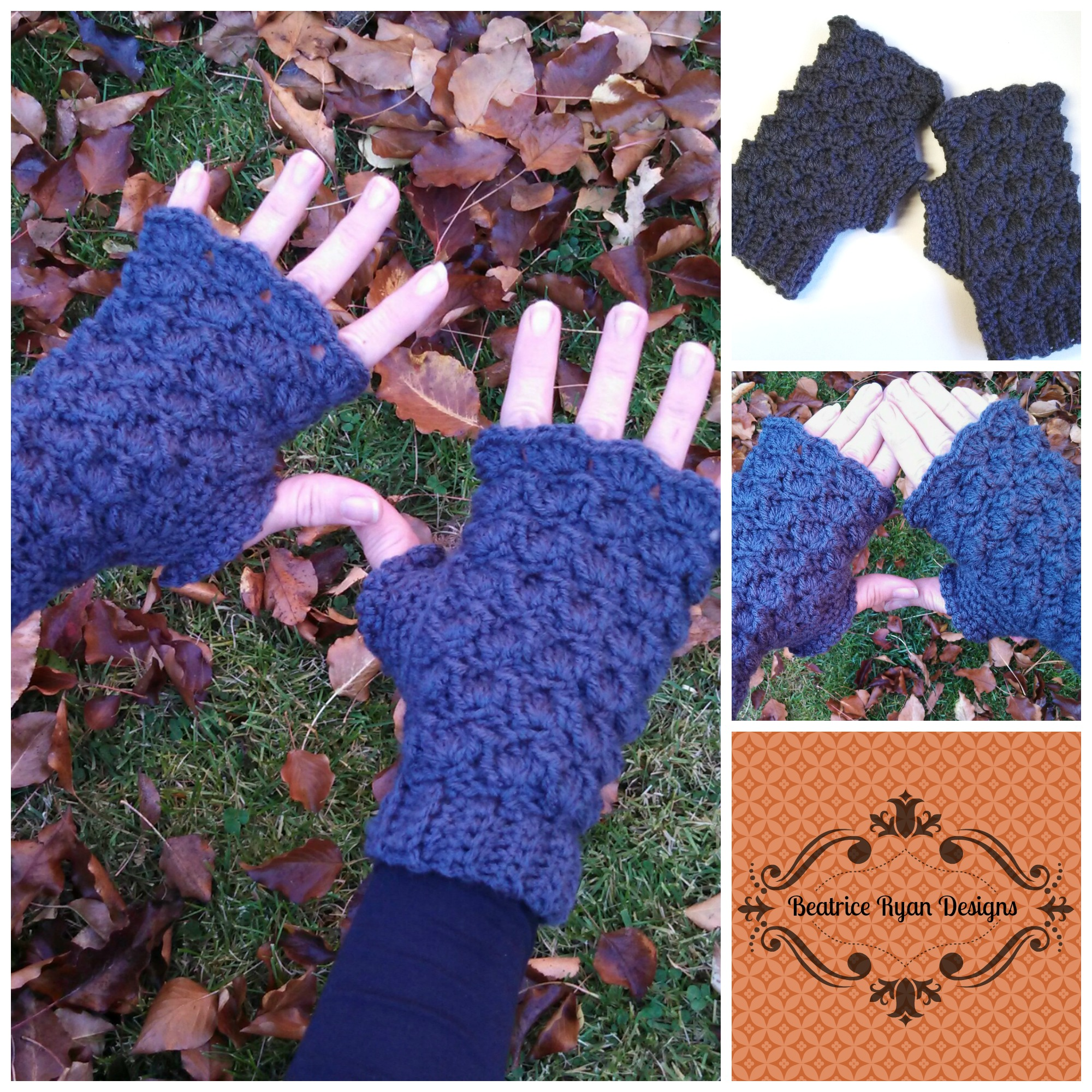 Shells & Bobbles Fingerless Gloves? Free Crochet Pattern!