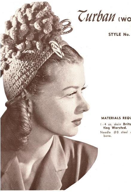 1940's turban hat