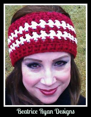 Winters Twist Free #Crochet #Headband pattern