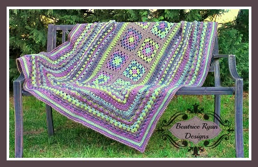 Free Afghan Pattern from Beatrice Ryan Designs #Crochet # Afghan