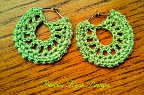 Simple Summertime Crochet Earring ~ Free Pattern