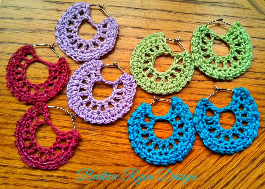 Simple Summertime Crochet Earrings -             Beatrice