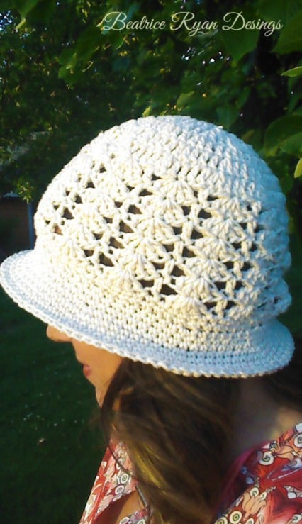 Sunshine and Shells Summer Crochet Hat 2