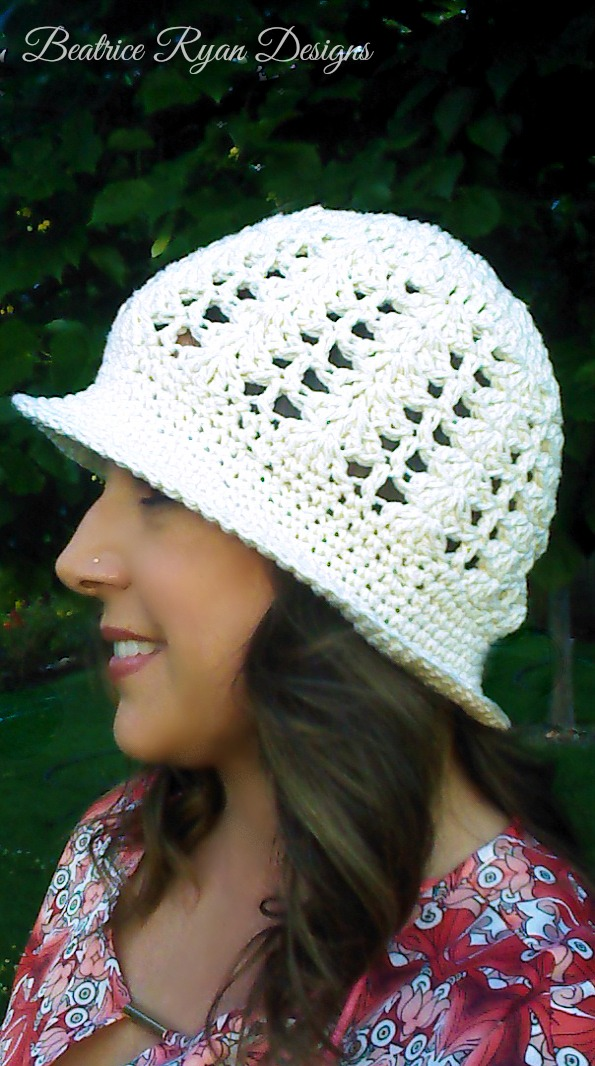 Sunshine and Shells Summer Crochet Hat ~ Free Pattern
