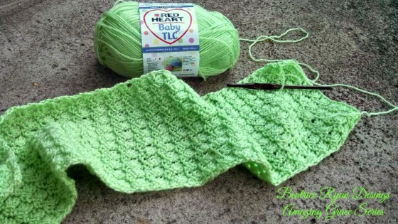 Amazing Grace Baby Blanket Beginning
