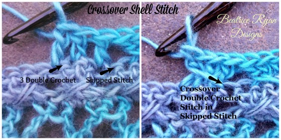 Crossover Shell Stitch