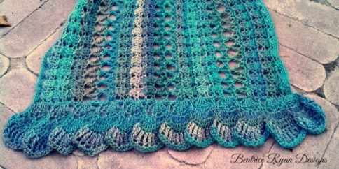 Midnight Breeze Shawl Ruffle