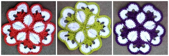 Flower Potholder Trio